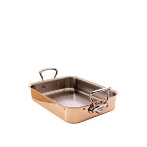 Mauviel Copper Roasting Pan with Rack (Stainless Steel Handles) by Mauviel