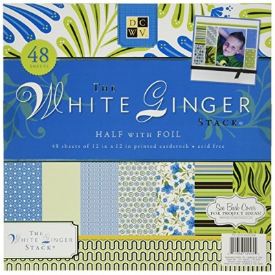 Die Cuts with a View ペーパースタック White Ginger  (48枚入)