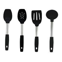 RADA Rada Cutlery Non-Scratch Utensils Set 4 Pc Spoon, Spoon With Holes, Spatula, Soup Ladle by RADA