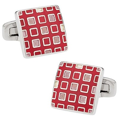 Pixelatedピンク&レッドCufflinks Cuff - Daddy