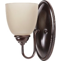 Sea Gull Lighting 44316BLE-710 Bathroom Sconce with Cafe TintGlass Shades, Burnt Sienna Finish by...