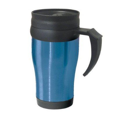 Oggi 5068.5 Lustre Stainless Steel with Plastic Liner, Lid and Base 14-Ounce, Blue 水筒  タンブラー ブルー...