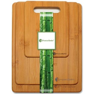 Premium Bamboo Durable Cutting Board Set Chopping Boards Comes In Small, Medium, & Large, Made From...