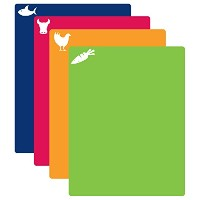 CounterArt Flexible Cutting Mat with Food Icons, Set of 4 by CounterArt
