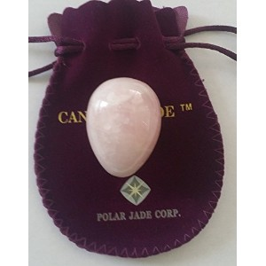 Rose Quartz Egg, Medium Size, Centrally Drilled, with String and Instructions, Pink Love Stone, for...