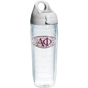 Tervis Alpha Phi Sorority Water Bottle with Lid, 24 oz, Clear by Tervis