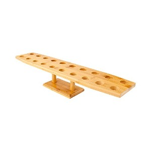 Oblong Bamboo Cone Stand 22.5 inches 20 Slots 1 count box by Restaurantware