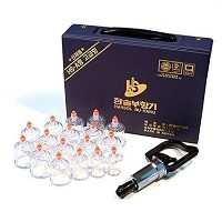 【ハンソル][Hansol] Professional Cupping Therapy Equipment Set with pumping handle17 Cups 吸い玉カッピングセット17個入...