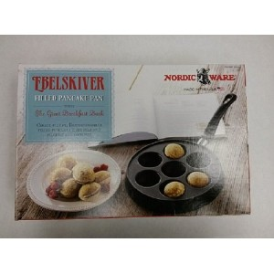 Ebelskiver Filled Pancake Pan + The Great Breakfast Book by Nordic Ware by Ebelskiver