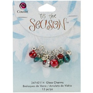 Tis The Season Acrylic/Glass Charms-Red and Green Drops 13/Pkg (並行輸入品)