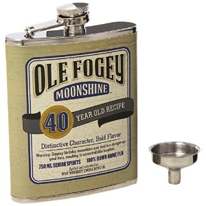 Laid Back CF1301 40th Birthday Ole Fogey Spirit Flask, 7-Ounce by Laid Back
