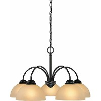 Volume Lighting V2415-79 Chandelier, Antique Bronze Finish by Volume Lighting