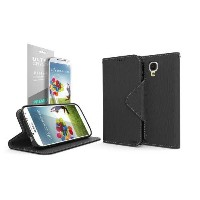 Cellto Premium Moto X Wallet Case with HD Screen Protector [Slim Ultra Fit] (Black) Diary Cover w/...