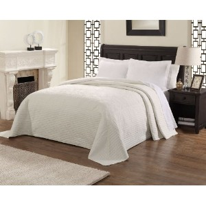 Lifestyle French Tile Bedspread, Twin, White by Lifestyle [並行輸入品]
