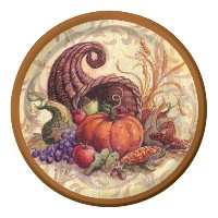 Creative Converting 8 Count Cornucopia Scroll Paper Dinner Plates by Creative Converting
