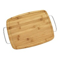 Farberware Bamboo Cutting Board with Metal Handle, 11-Inch by 14-Inch by Farberware