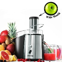 Gourmia GJ-750 Wide Mouth Fruit and Vegetable Centrifugal Juicer Juice Extractor with Multiple...