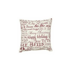 """Merry Christmas Pillow from Primitives by Kathy 15"""" Square by Primitives By Kathy [並行輸入品]"""