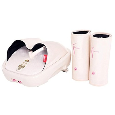 Hanil 532 Y-Liner HIL-9000F Air Compression Heating Foot Massager with Calf Cuff ハニール532 YライナーHILL...