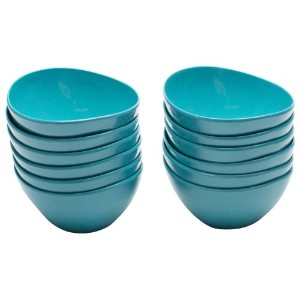 Zak! Designs Moso Individual Bowl, 100% Natural Materials and BPA-free, 4.5, Azure, Set of 12 by Zak Designs