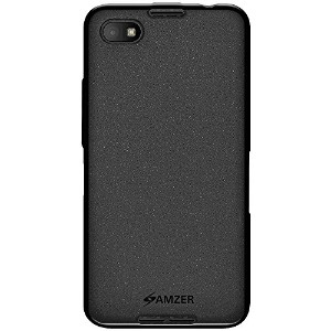 Amzer Pudding TPU Skin Fit Case Cover for BlackBerry Z30 Z 30 - Retail Packaging - Black by Amzer