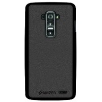 Amzer Pudding Soft TPU Case Back Cover for LG G Flex D958 - Retail Packaging - Black by Amzer