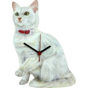 Lark Rise Designs Wooden Clock(クロック)・時計 WHITE CAT LRC7