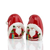 Martha Stewart Collection VINTAGE HOLIDAY Santa Salt & Pepper Shaker Set by Martha Stewart