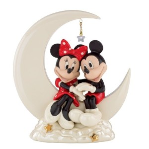 Classics Mickey And Friends Over the Moon for Minnie Sculpture ミッキー/ミニー ディズニーフィギュア Lenox社【並行輸入】