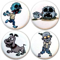 Buttonsmithテつョ Zombies Magnet Set by Henry the Buttonsmith