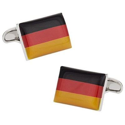 Cuff - Daddy German Flag Cufflinks Withプレゼンテーションボックス