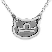 Two-Tone 925 Sterling Silver Belcho Zodiac Libra Horoscope Necklace (12 Inches)