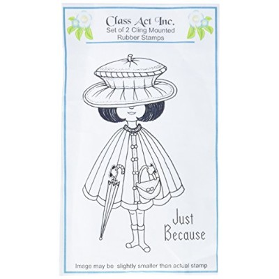 """Class Act Cling Mounted Rubber Stamp 3.25""""X5.5""""-Mindy (並行輸入品)"""