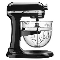 KitchenAid Professional 600 Design Series 6 Qt Glass Bowl Lift Stand Mixer - KF26M22OB - Onyx Black...