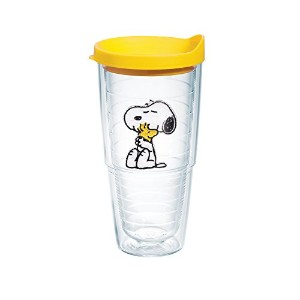 Tervis Peanuts Snoopy and Woodstock Tumbler with Yellow Lid, 24-Ounce by Tervis