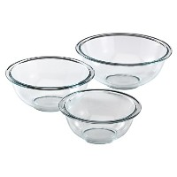 Pyrex Prepware 3-Piece Glass Mixing Bowl Set by Pyrex