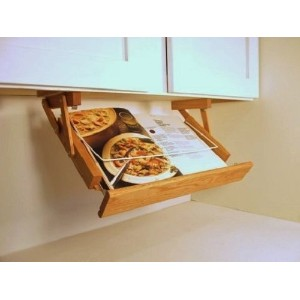 Under Cabinet Mounted Cookbook Holder by Ultimate Kitchen Storage