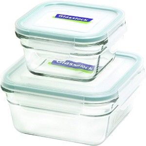 Glasslock 4-Piece Square Oven Safe Container Set by GlassLock