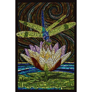 Dragonfly – 用紙モザイク 24 x 36 Giclee Print LANT-42948-24x36