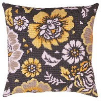 "Yellow Floral Needlepoint Kit-12""X12"" Stitched In Yarn (並行輸入品)"