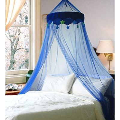 DREAMMA Blue Round Dome Bed Canopy with Lovely Little Stars by Dreamma
