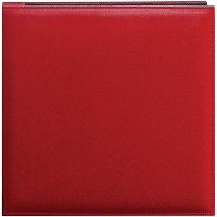 Pioneer 12 Inch by 12 Inch Snapload Sewn Leatherette Memory Book, Red by Pioneer Photo Albums