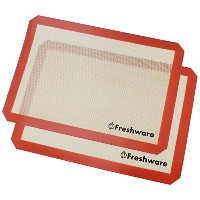 Freshware Silicone Non-Stick Baking Mat, Half Size,16.5 x 11.6 inch, 2-PacK, BM-102PK by Freshware
