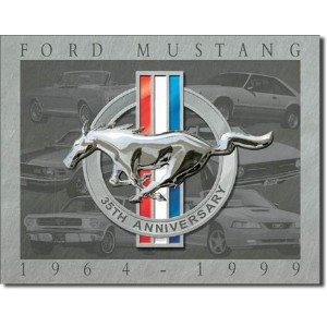 Ford Mustang 35th Anniversary   メタルサインプレート   (de 4030)