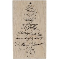 "Penny Black Mounted Rubber Stamp 3""X5""-Caroling Tree (並行輸入品)"