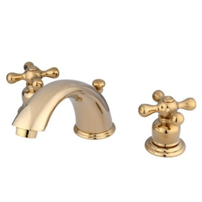 Kingston Brass KB962AX Two Handle 4 in. to 8 in. Mini Widespread Lavatory Faucet with Retail Pop-up