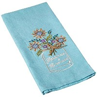 Kay Dee Designs F0748 Happiness Mason Jar Embroidered Tea Towel by Kay Dee