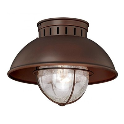 Vaxcel T0143 Harwich Outdoor Flush Mount, 10, Burnished Bronze Finish by Vaxcel