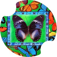 Thirstystone Butterflies Live-Love-Laugh Car Cup Holder Coaster, by Thirstystone