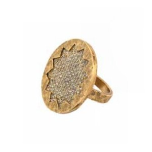 House of Harlow 1960 (ハウスオブハーロウ1960) Medium Sunburst Pave Ring with Black Diamond Pave サイズUS8